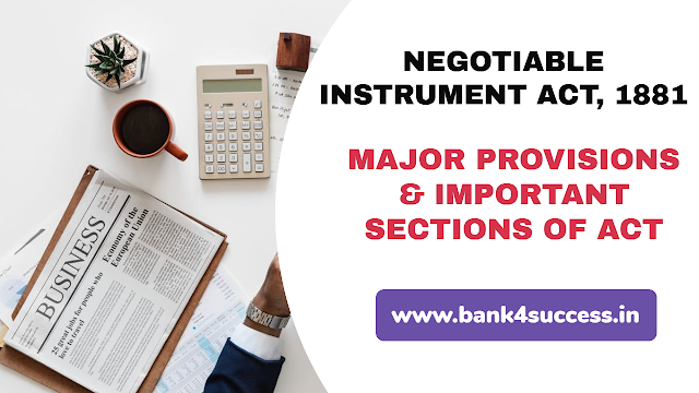 Major Provisions of Negotiable Instruments Act 1881 PDF Download