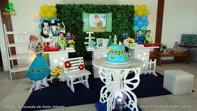 Decoração provençal - Festa infantil feminina com o tema Frozen Febre Congelante
