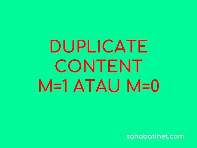 cara nebghilangkan m=1 pada webmaster