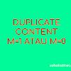 Cara Menghilangkan Duplicate Content Kode m=1 Pada Blogspot
