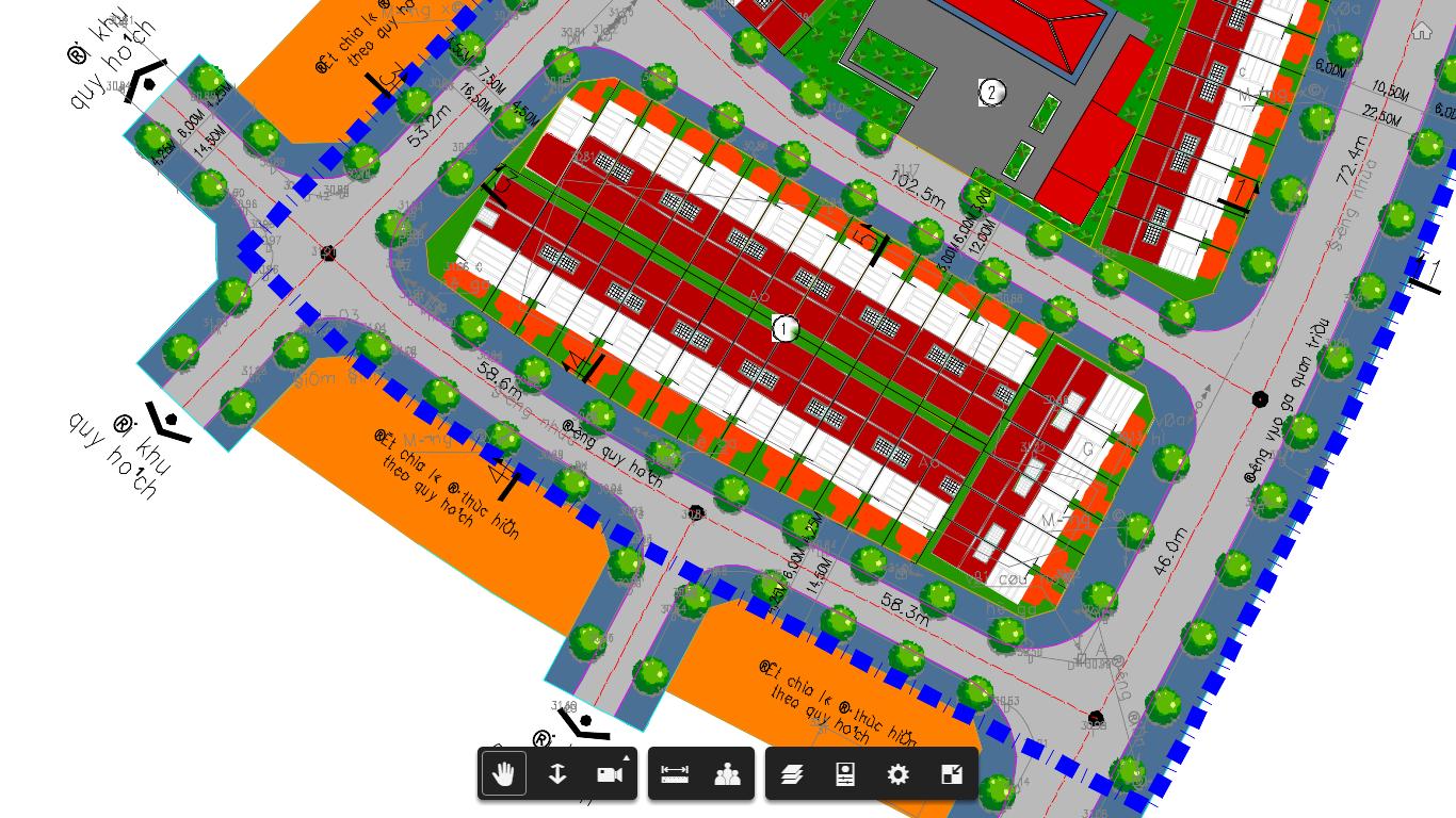 Phối cảnh chi tiết Block 2 Dự án đất nền Quán Triều - Thái Nguyên