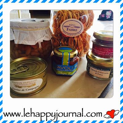 bonjour french food, box, coffret, gourmet, gourmand, partenaires, happy journal
