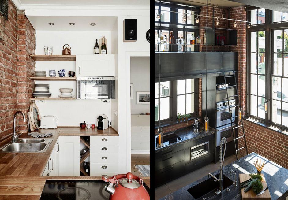 cuisine brique free cuisine brique suspension cuisine blanche moderne with cuisine brique. Black Bedroom Furniture Sets. Home Design Ideas