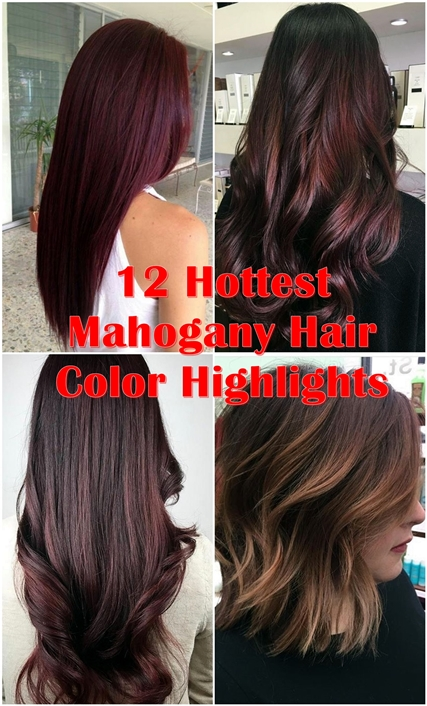 12 flattering dark brown hair with caramel highlights hairstyles 12 hottest mahogany hair color highlights for brunettes pmusecretfo Image collections