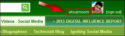 Submit blog to technorati
