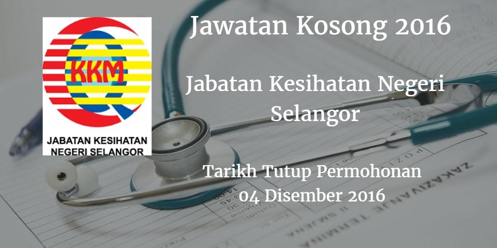 Jawatan Kosong JKN Selangor 04 Disember 2016