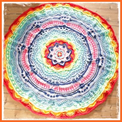 Frau Tschi Tschi Mandala Madness Decke Anleitung Kostenlos
