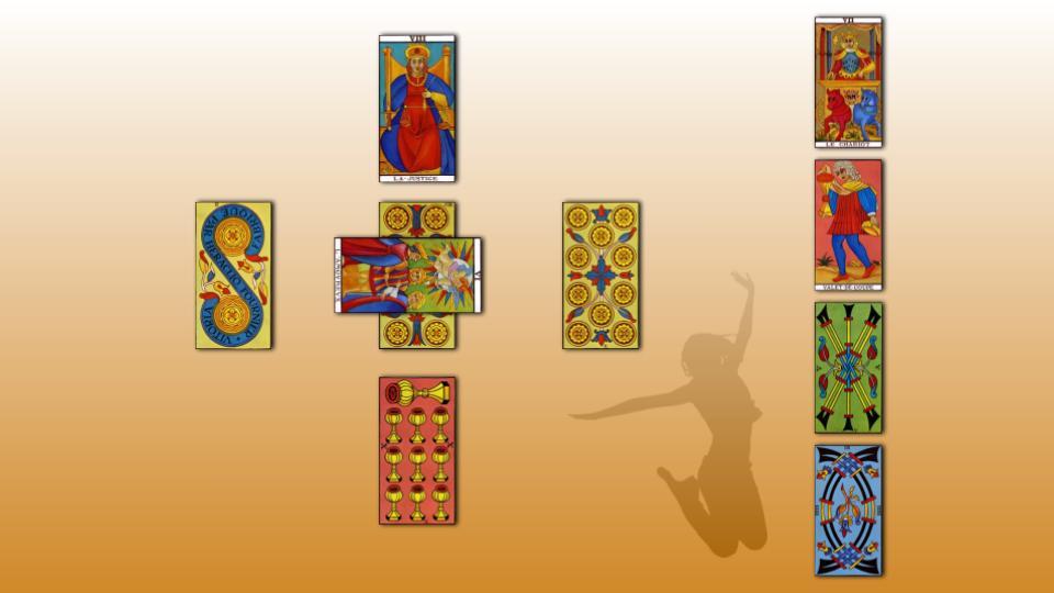 La diapositive de la page sur le Tarot de Marseille