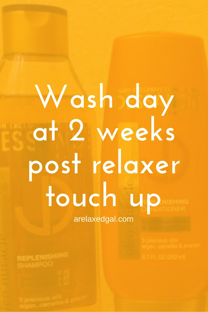 Wash day experience using Dessange hair products at 2 week post 2/28/15 relaxer touch up. | @arelaxedgal