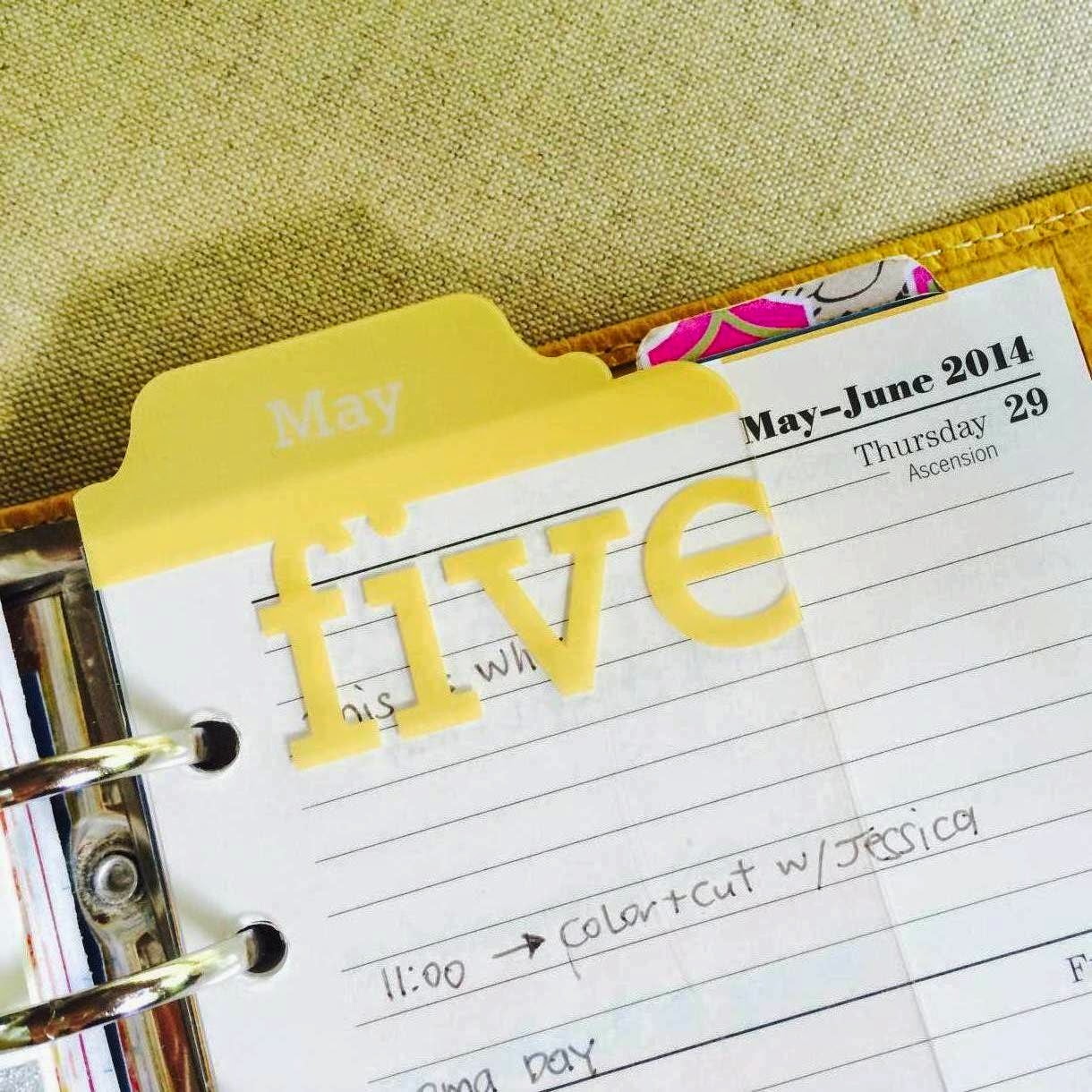 Project Life Monthly Tabs for your Filofax Planner | iloveitallwithmonikawright.com