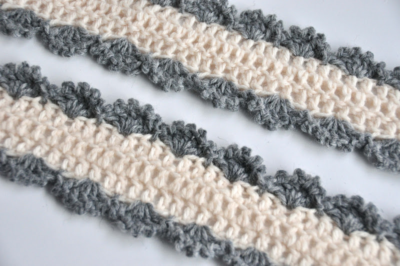 Fine Scalloped Scarf Crochet Pattern Sketch Easy Scarf Knitting