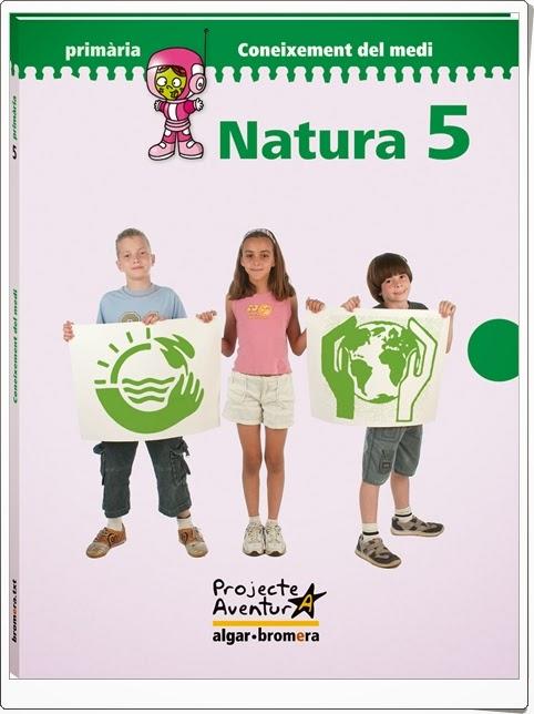 """""""Natura 5"""". Actividades digitales de Conocimiento del Medio de 5º de Primaria. Ediciones Bromera."""