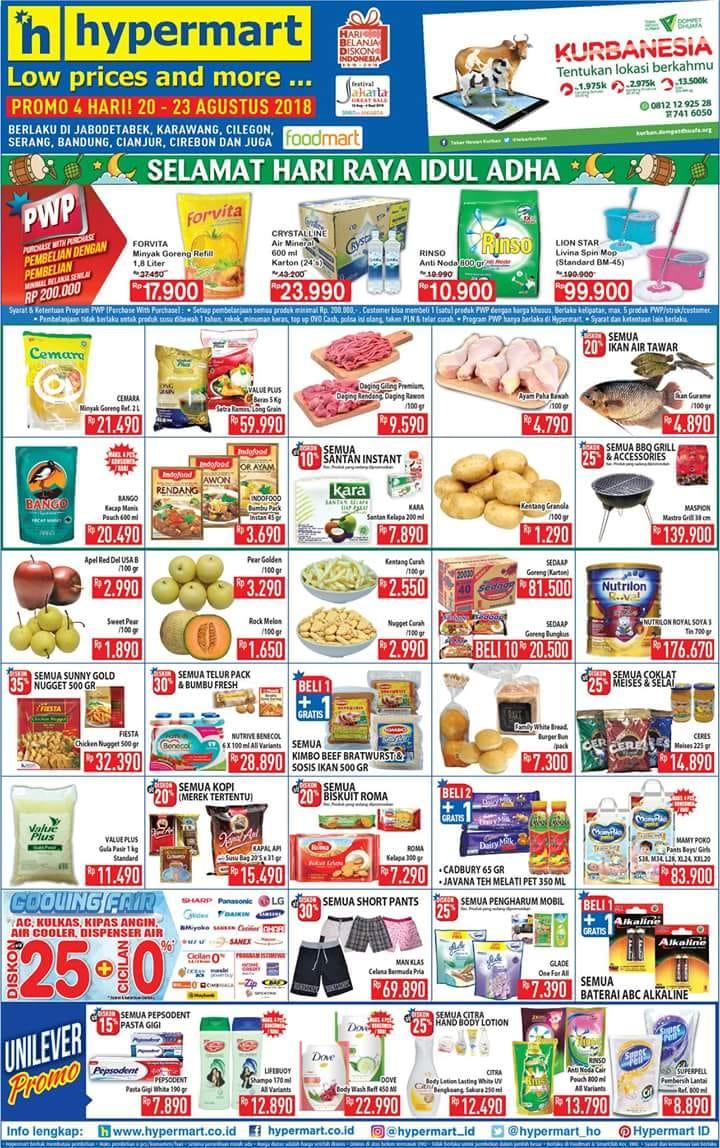 Hypermart - Katalog Promo Periode 20 - 23 Agustus 2018
