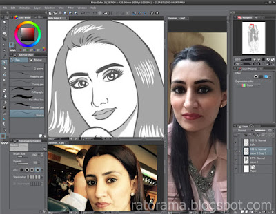 caricatura no Clip Studio Paint
