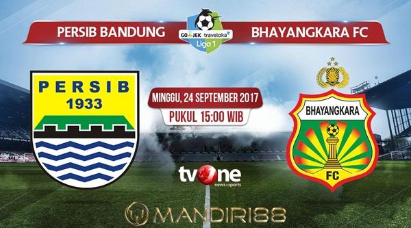 Duel menghadapi Bhayangkara FC di Stadion Si Jalak Harupat Berita Terhangat Prediksi Bola : Persib Bandung Vs Bhayangkara FC , Minggu 24 September 2017 Pukul 15.00 WIB @ TVONE