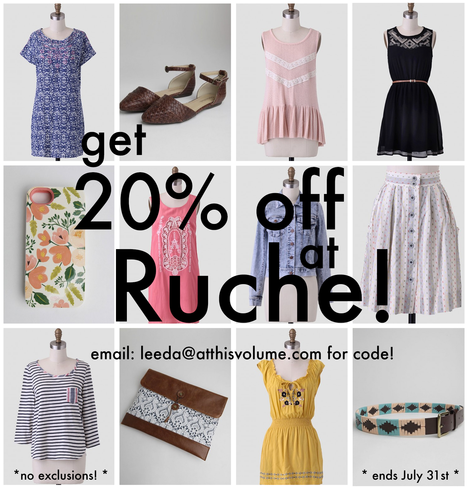 4 active Shop Ruche Sales & Coupons Visitors save an average of $; Ladies who are keen on shopping can be happy to acquire the best Ruche coupon codes at herelfilesvj4.cf and buy clothing and accessories cheaper!