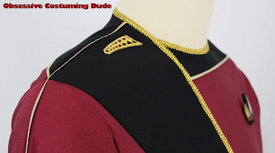 Men's TNG season 1 admiral jacket sewing pattern
