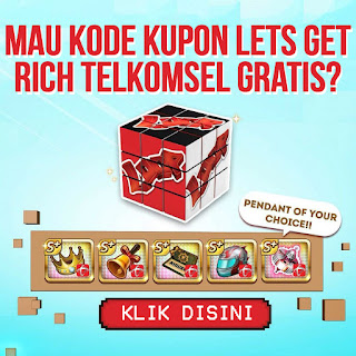 kode kupon lets get rich telkomsel gratis