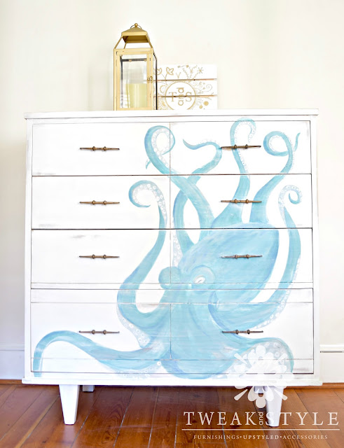 hand painted octopus