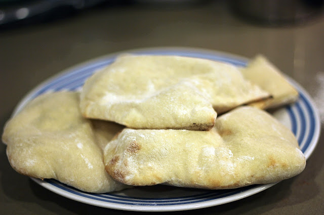Recipe for Easy Homemade Pita Bread by freshfromthe.com.