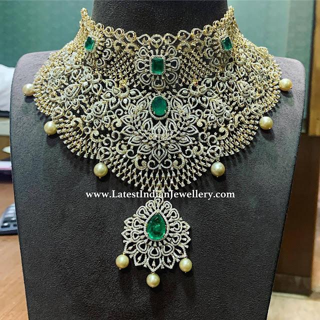 Majestic Diamond Bridal Necklace