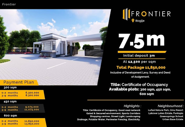 affordable land for sale in frontier @ De Donnies Homes