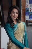 Tejaswi Madivada looks super cute in Saree at V care fund raising event COLORS ~  Exclusive 035.JPG