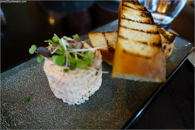 Dine Out  Bistro Du Midi: Salmon Rillette, capers, grilled fougasse