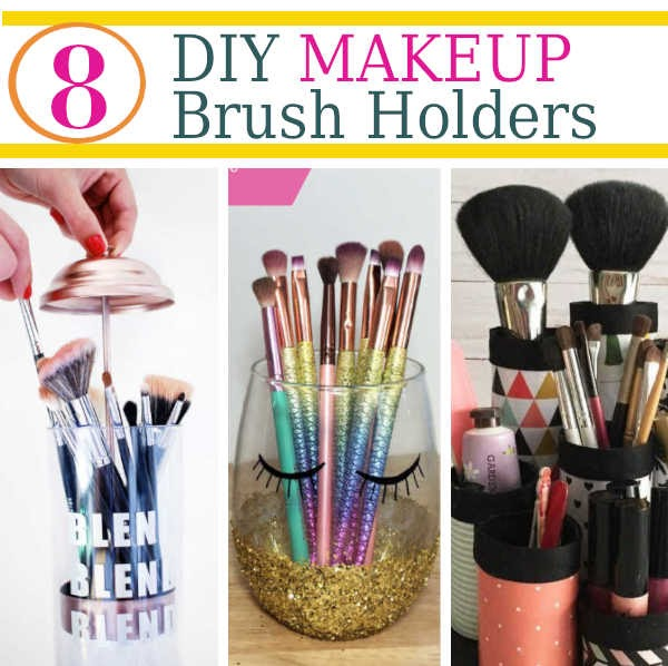 Do you struggle with storing and organizing your makeup brushes? These diy makeup brush holders are the perfect way to organize your makeup brushes and as a ...