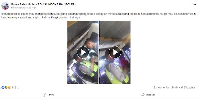 Viral Pungli Polisi