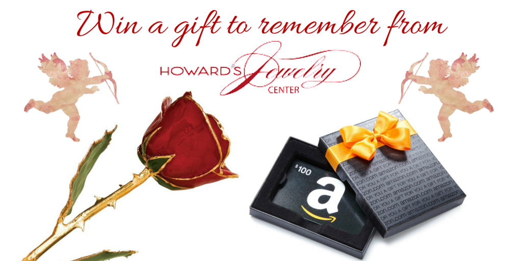 Enter to Win $100 eGift card to Amazon and a gold dipped rose