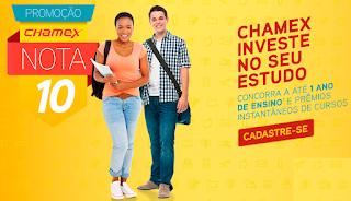 """Promoção """"Chamex Nota 10"""" Blog topdapromocao.com.br"""