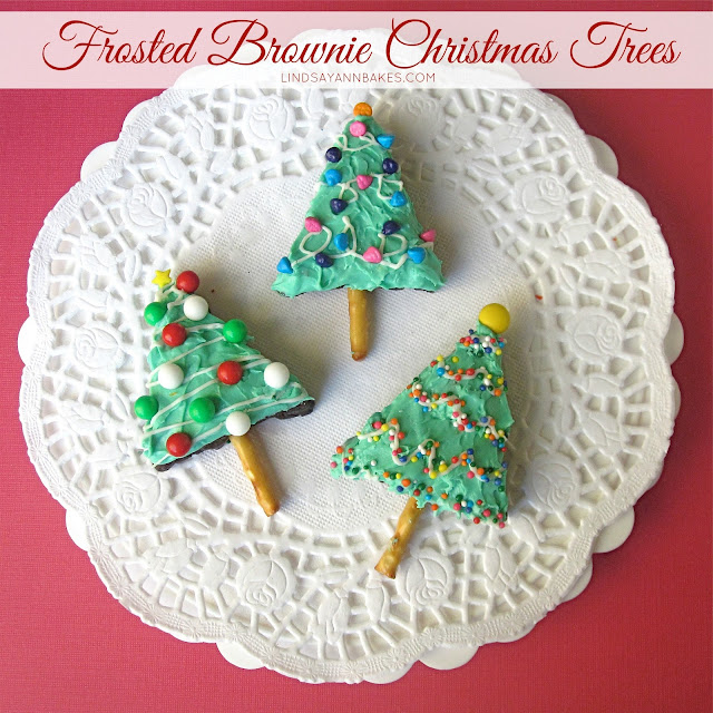 Frosted Brownie Christmas Trees