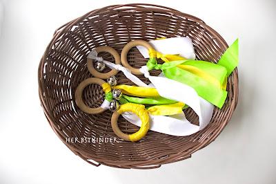 DIY Wooden Montessori Rings Holzringe Sinnesmaterial Säuglinge