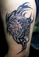 Tribal Lion tattoo designs,tattoo designs for men,bicep tattoo designs for men