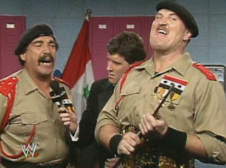 WWF / WWE - Wrestlemania 7:  Sgt. Slaughter and General Adnan talk about the upcoming WWF title defense against Hulk Hogan