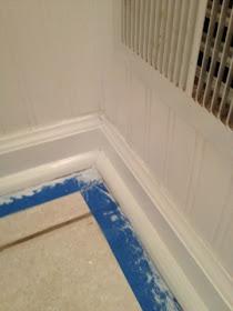 beadboard wallpaper bathroom, bead board wall paper tutorial, bathroom powder room, rachael ray