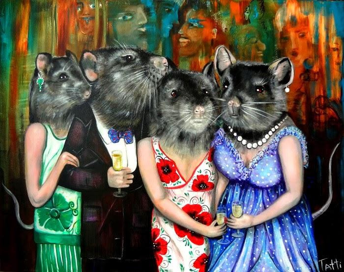 Динамичные, юмористические картины. Tatti Lobanova