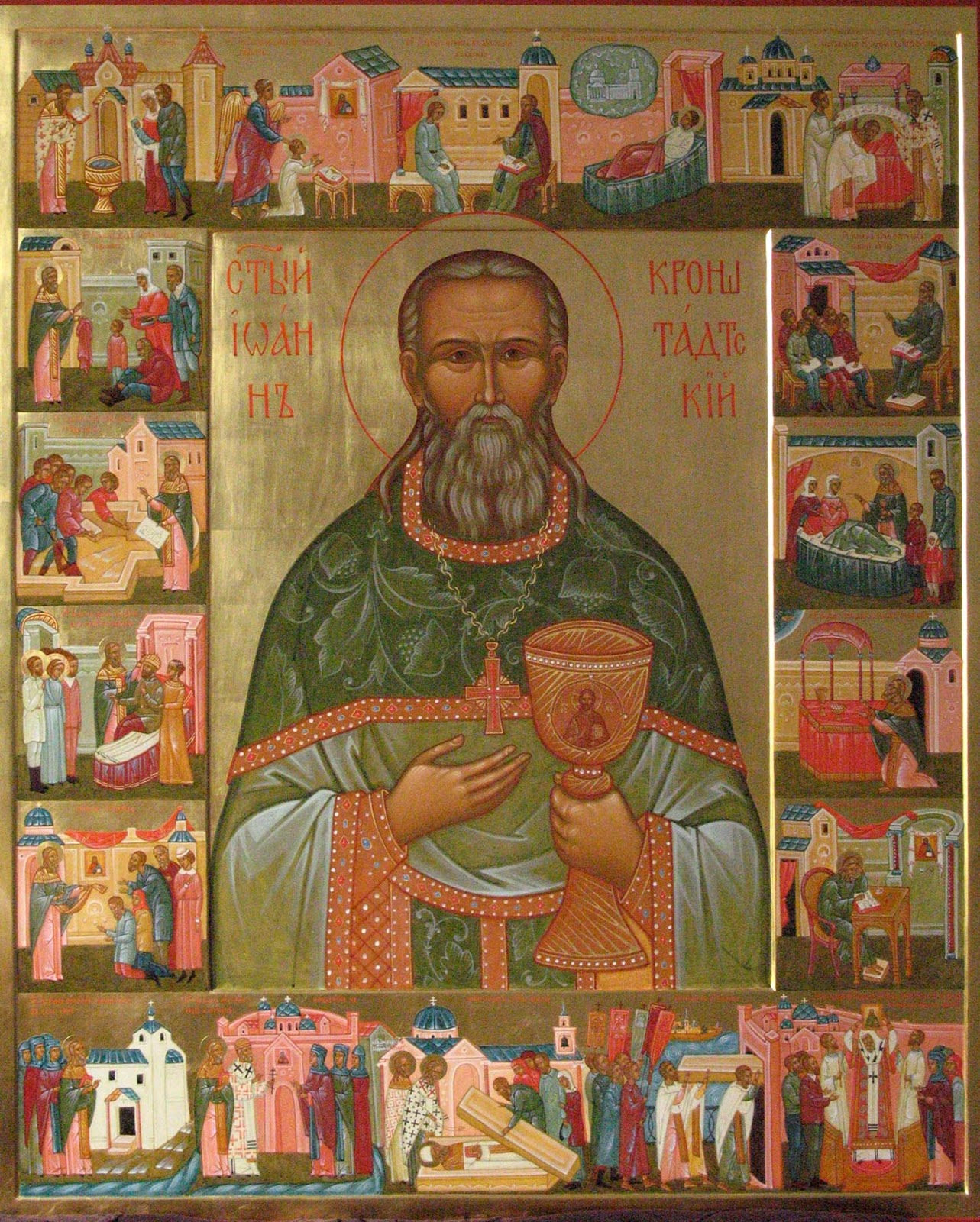 Why do they pray to John of Kronstadt during alcoholism?