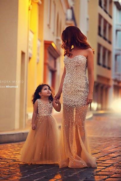Vestidos de fiesta para madre e hija iguales
