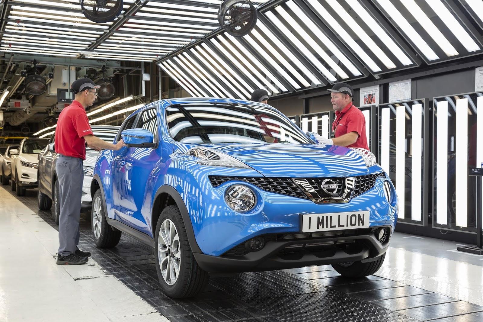 Το εκατομμυριοστό JUKE, εξήλθε της παραγωγής από το εργοστάσιο της Nissan στο Sunderland