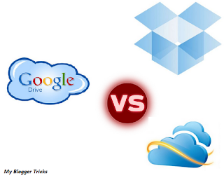 SkyDrive vs DropBox vs Google Drive