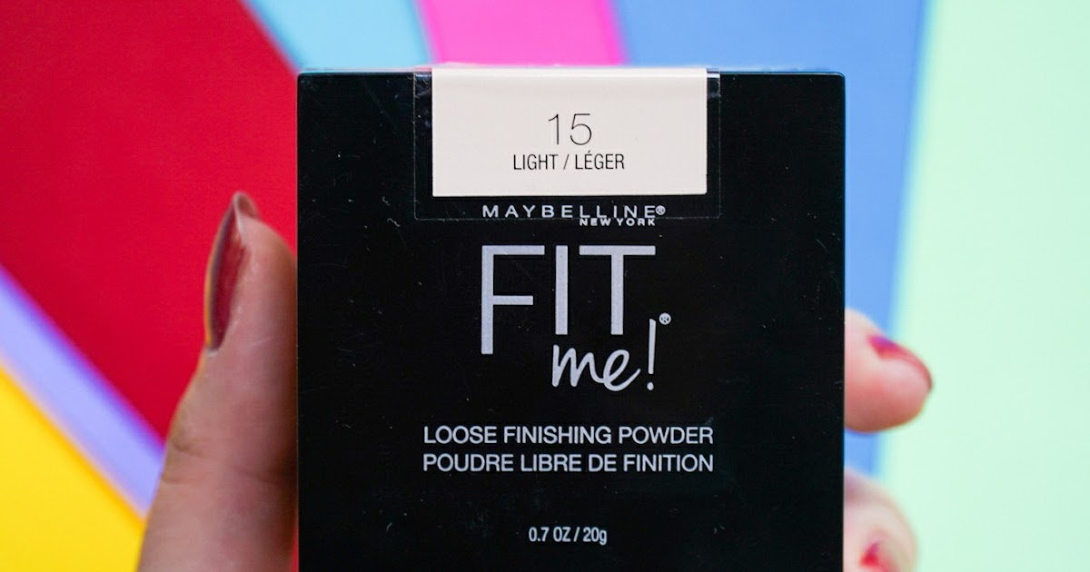 Maybelline Fit Me Loose Finishing Powder Review and Swatches   Shade 15 Light