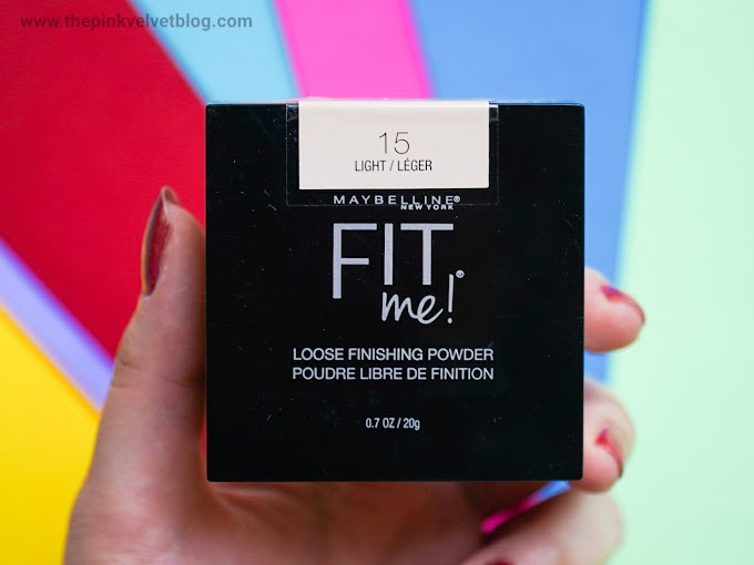 Maybelline Fit Me Loose Finishing Powder Review and Swatches | Shade 15 Light