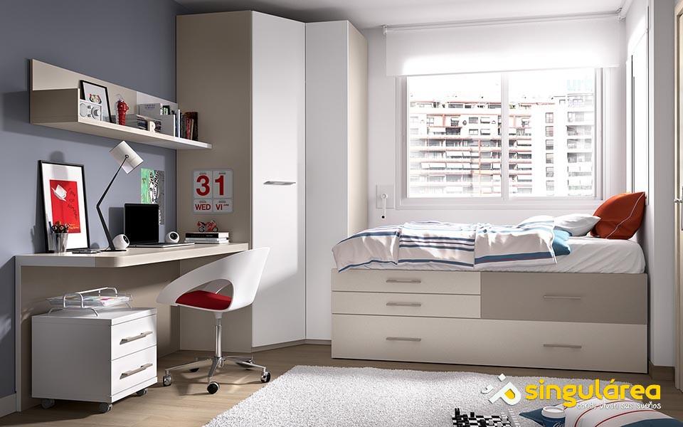 Habitaci n juvenil cama modular 1581 - Habitacion juvenil 2 camas ...