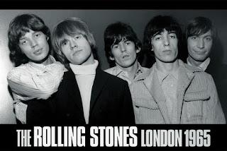 Fotografía en blanco y negro de Rolling Stones, Londres, 1965. De izquierda a derecha: Mick Jagger, Brian Jones, Keith Richards, Bill Wyman y Charlie Watts