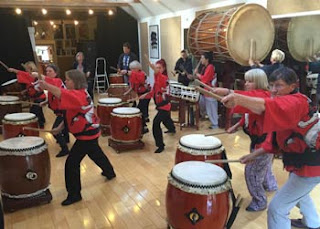 13 maniacs and a bunch of drums at the taiko workshop