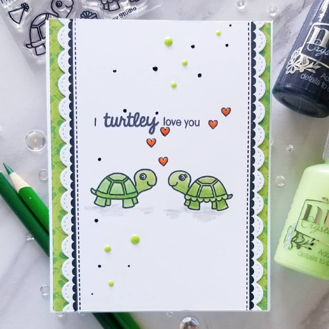 Sunny Studio Stamps: Turtley Awesome Customer Card Share by Ana A