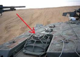 Міномет танку Merkava - вигляд на башту