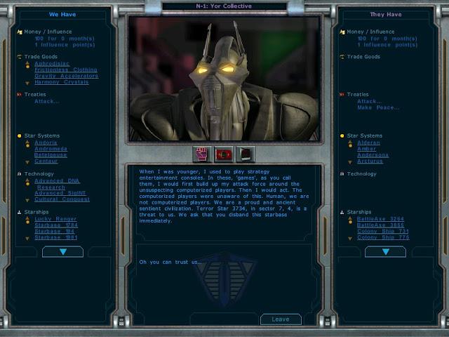Galactic Civilizations - Yor Funny Message Screenshot